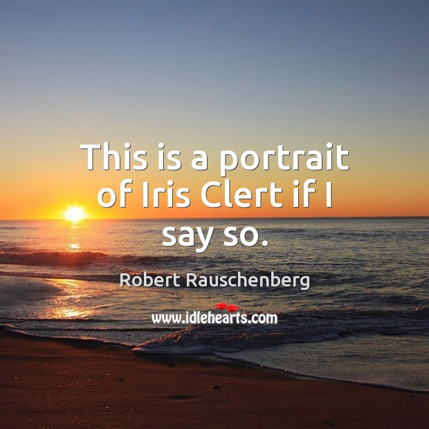 This is a portrait of Iris Clert if I say so. Image