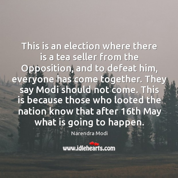 Image, This is an election where there is a tea seller from the