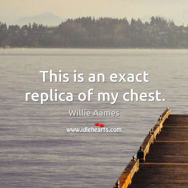 This is an exact replica of my chest. Willie Aames Picture Quote