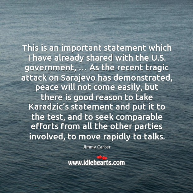 Image, This is an important statement which I have already shared with the u.s. Government