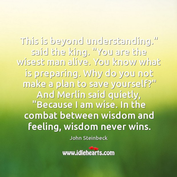 """This is beyond understanding."""" said the king. """"You are the wisest man Image"""
