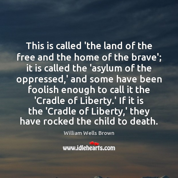 Image, This is called 'the land of the free and the home of