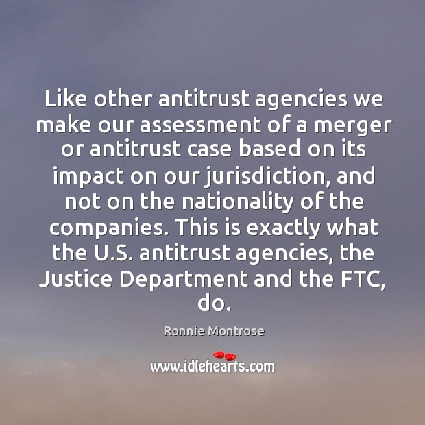 Image, This is exactly what the u.s. Antitrust agencies, the justice department and the ftc, do.