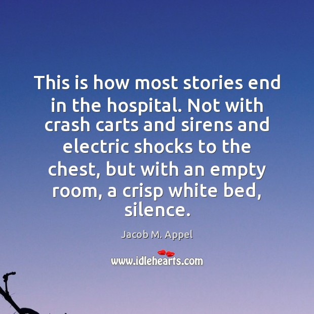 This is how most stories end in the hospital. Not with crash Image