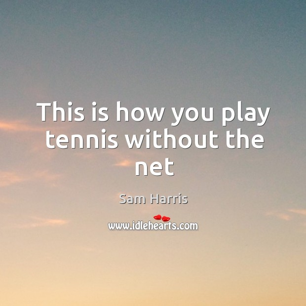 This is how you play tennis without the net Image