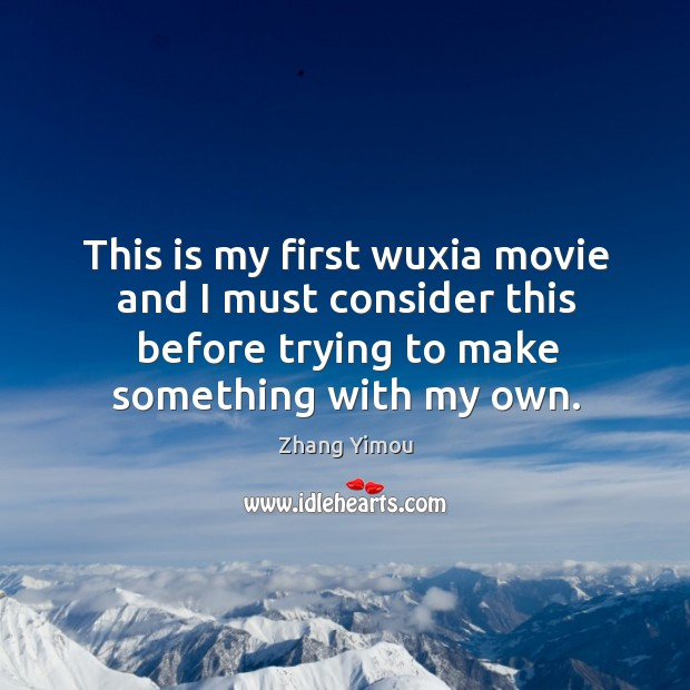 This is my first wuxia movie and I must consider this before trying to make something with my own. Image