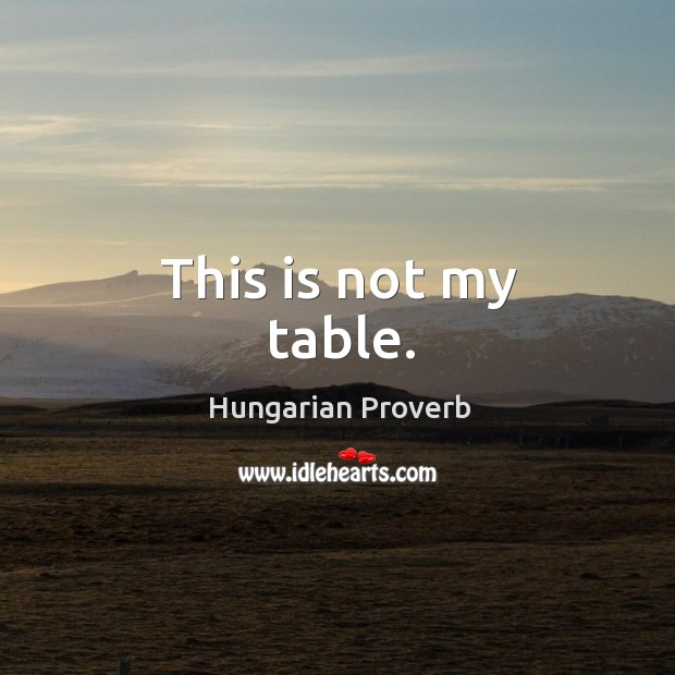 This is not my table. Image