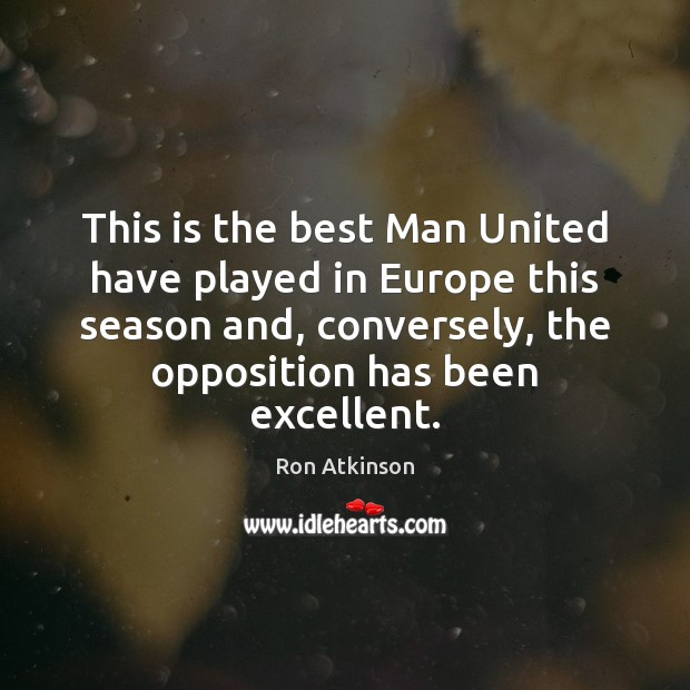Image, This is the best Man United have played in Europe this season