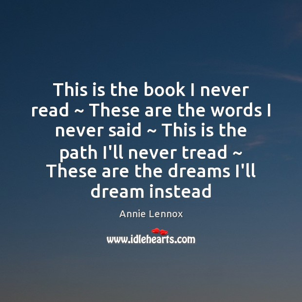 This is the book I never read ~ These are the words I Image