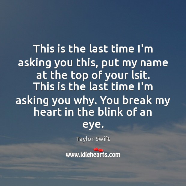 This is the last time I'm asking you this, put my name Image