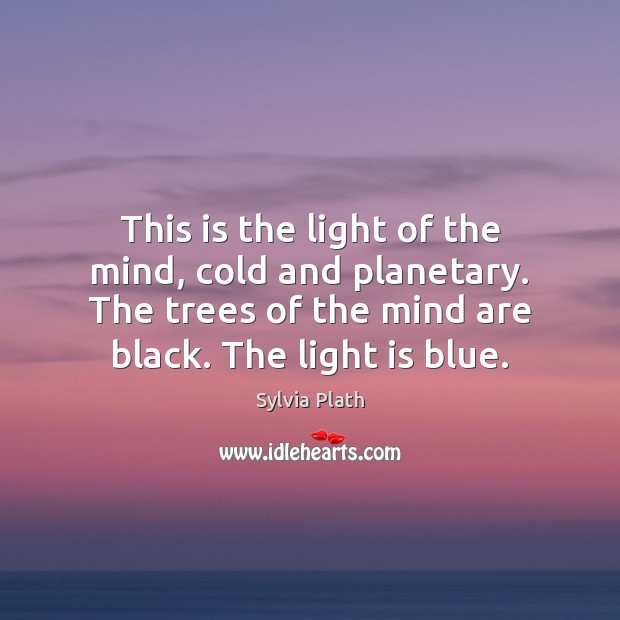 This is the light of the mind, cold and planetary. The trees Image