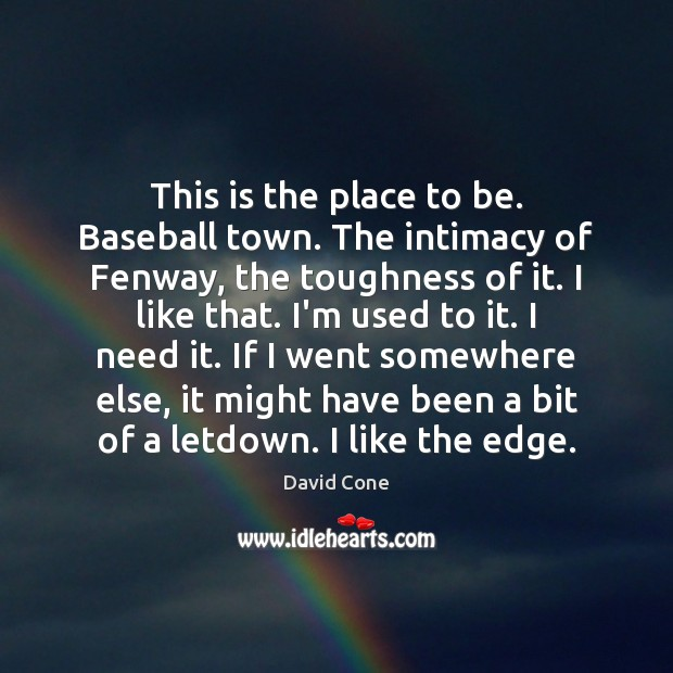 This is the place to be. Baseball town. The intimacy of Fenway, Image