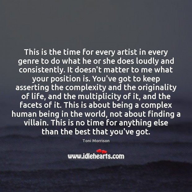This is the time for every artist in every genre to do Image