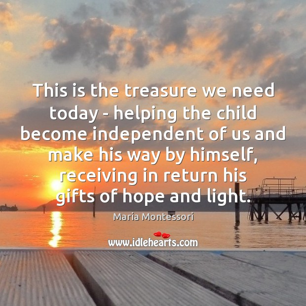 Image, This is the treasure we need today – helping the child become