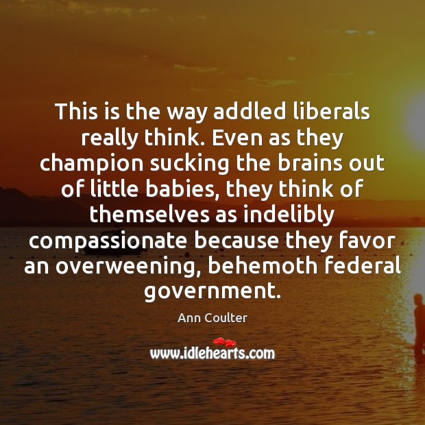 Image, This is the way addled liberals really think. Even as they champion