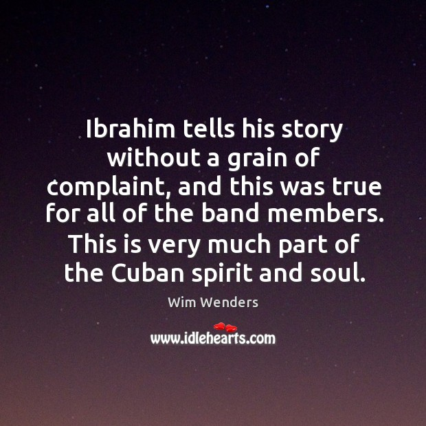 This is very much part of the cuban spirit and soul. Image