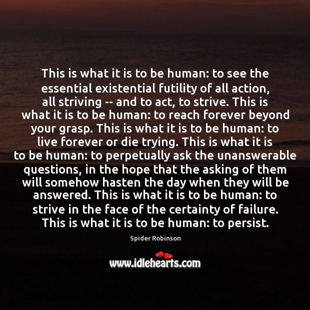 This is what it is to be human: to see the essential Image