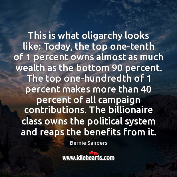 This is what oligarchy looks like: Today, the top one-tenth of 1 percent Image