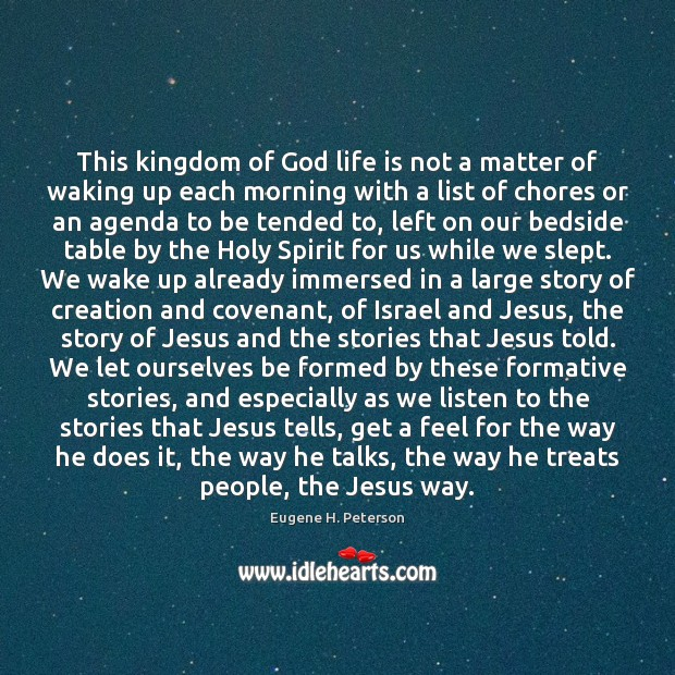 Image, This kingdom of God life is not a matter of waking up