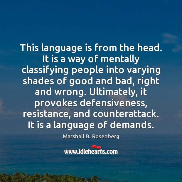 This language is from the head. It is a way of mentally Image