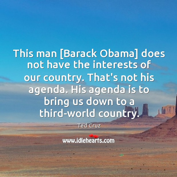 Image, This man [Barack Obama] does not have the interests of our country.