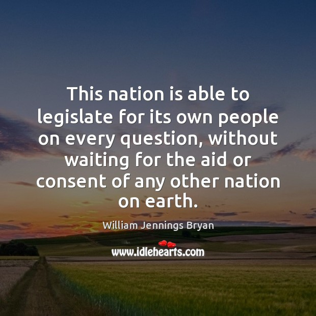 This nation is able to legislate for its own people on every Image