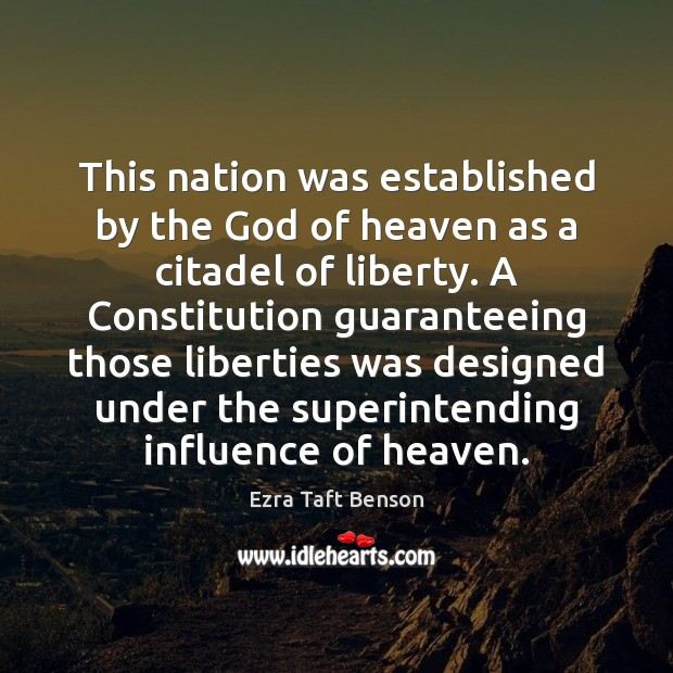 This nation was established by the God of heaven as a citadel Image