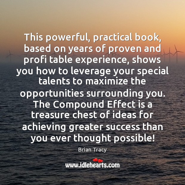 This powerful, practical book, based on years of proven and profi table Brian Tracy Picture Quote