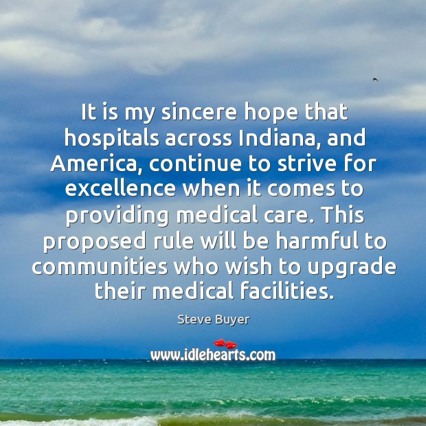 This proposed rule will be harmful to communities who wish to upgrade their medical facilities. Image
