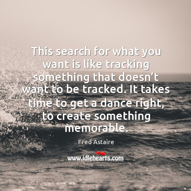 This search for what you want is like tracking something that doesn't want to be tracked. Image