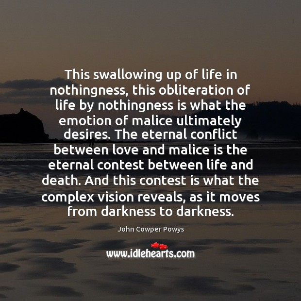 Image, This swallowing up of life in nothingness, this obliteration of life by