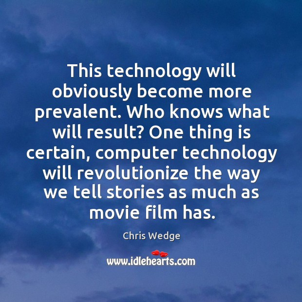 This technology will obviously become more prevalent. Who knows what will result? Image