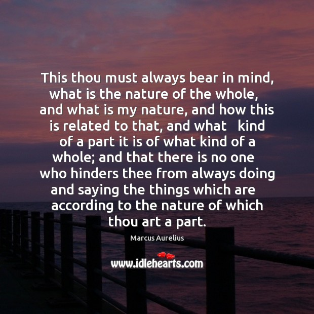 This thou must always bear in mind, what is the nature of Image