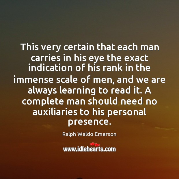 Image, This very certain that each man carries in his eye the exact