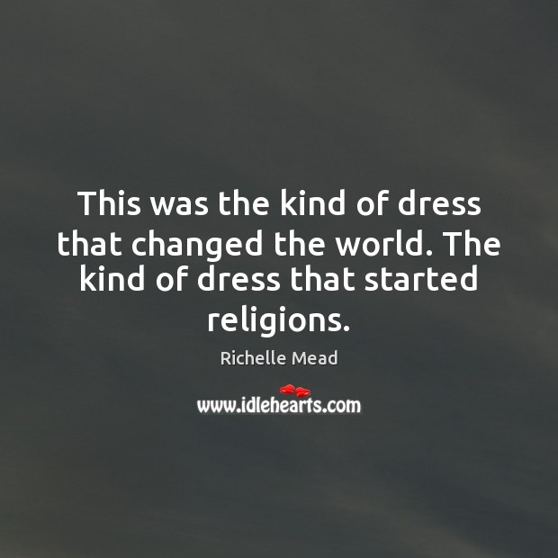 Image, This was the kind of dress that changed the world. The kind