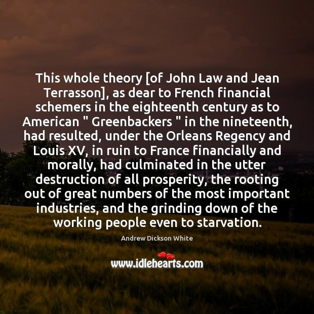 Image, This whole theory [of John Law and Jean Terrasson], as dear to