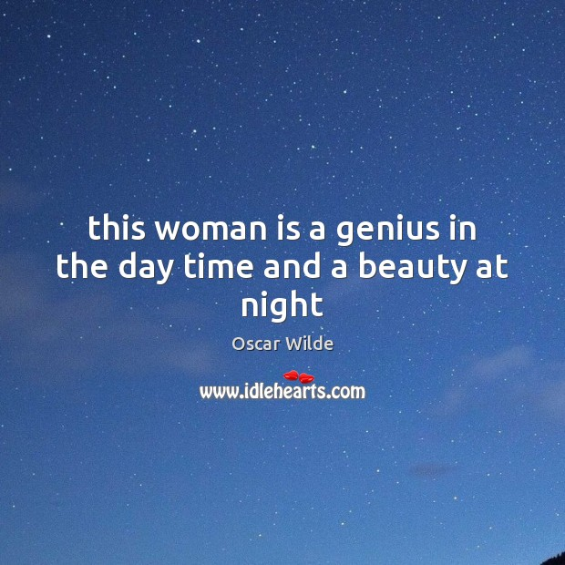 This woman is a genius in the day time and a beauty at night Image