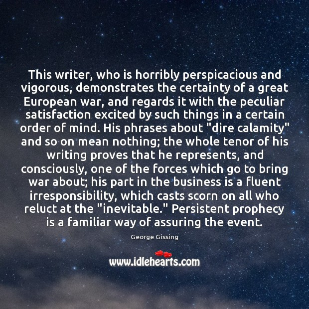 Image, This writer, who is horribly perspicacious and vigorous, demonstrates the certainty of