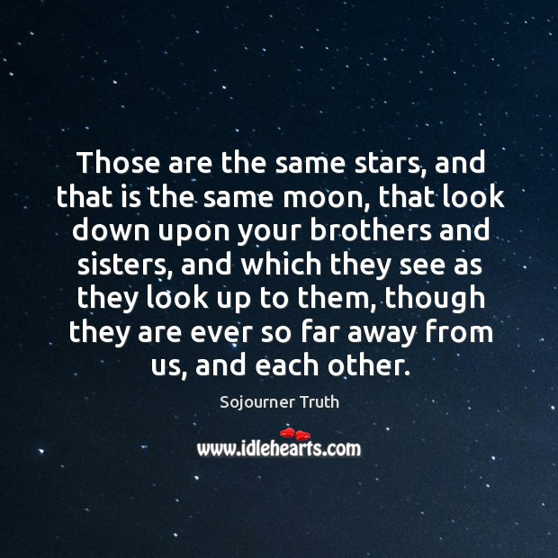 Those are the same stars, and that is the same moon Image