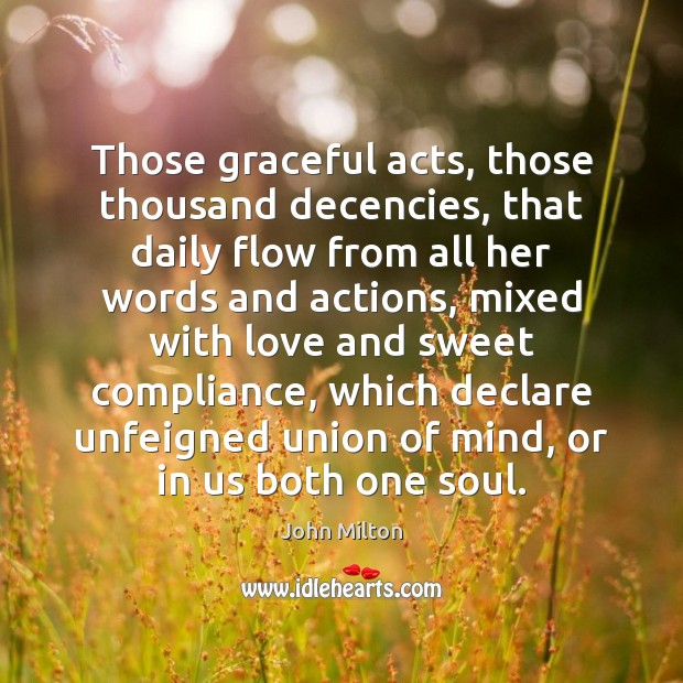 Image, Those graceful acts, those thousand decencies, that daily flow from all her