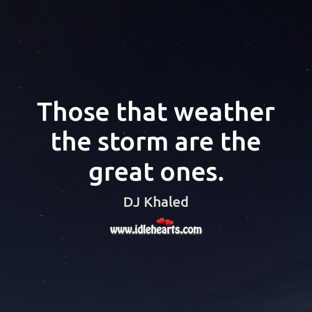 Image, Those that weather the storm are the great ones.