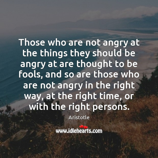 Image, Those who are not angry at the things they should be angry