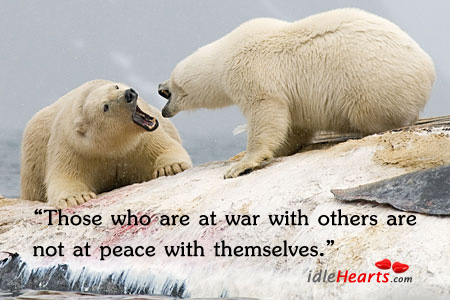 Those who are at war with other are Image