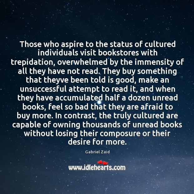 Those who aspire to the status of cultured individuals visit bookstores with Image