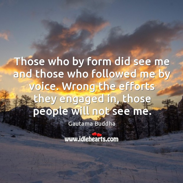 Those who by form did see me and those who followed me Image