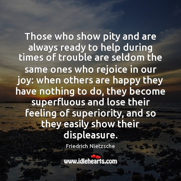 Those who show pity and are always ready to help during times Image