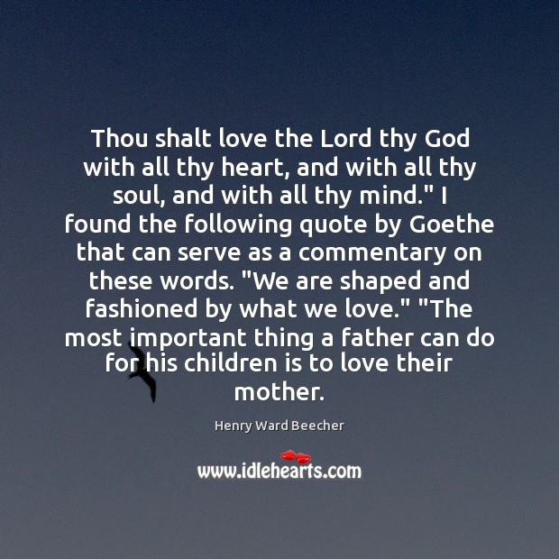 Image, Thou shalt love the Lord thy God with all thy heart, and