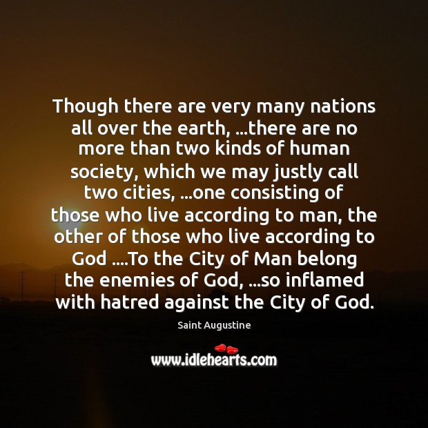 Though there are very many nations all over the earth, …there are Image