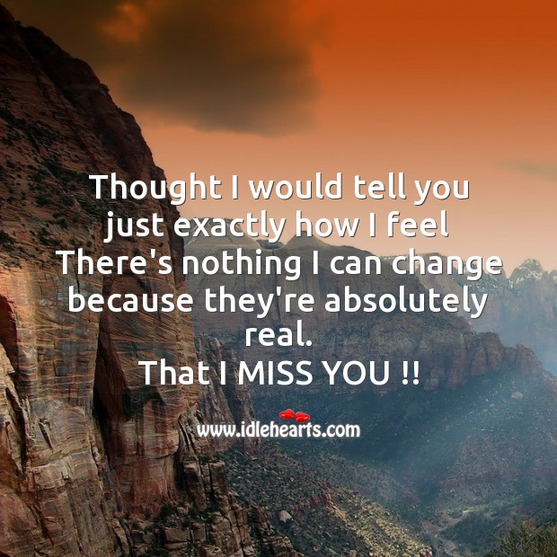Thought I would tell you Missing You Messages Image