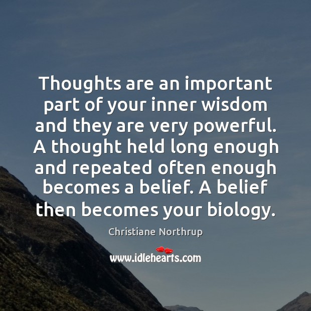 Thoughts are an important part of your inner wisdom and they are Image